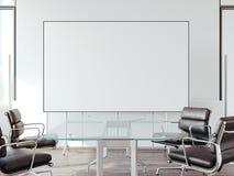 Escritório moderno para negociações com whiteboard rendição 3d Fotos de Stock
