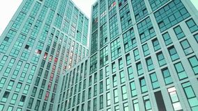 Escritório para negócios do arranha-céus da janela fotos de stock royalty free