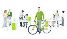 Escritório para negócios verde Fotografia de Stock Royalty Free