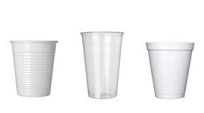 Escritório plástico do alimento da bebida do anel-D da chávena de café Imagens de Stock Royalty Free