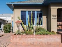 Escritório profissional na cidade velha Tucson, o Arizona Foto de Stock