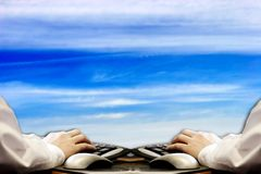 Escritório virtual ilustração stock