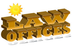 Escritórios de lei ilustração do vetor