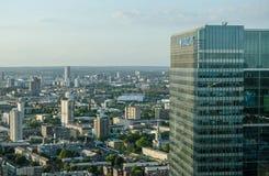 Escritórios e casas, Londres do leste Fotos de Stock Royalty Free