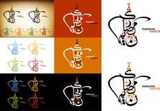 Escrita árabe - cumprimentos ramadan da caligrafia Foto de Stock Royalty Free