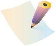 Escrita ilustração stock
