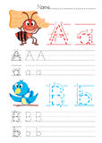 Escrita A B do alfabeto Fotografia de Stock