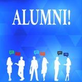 Escrita conceptual da mão que mostra alunos Celebração graduada velha da academia da faculdade do recolhimento do pós-graduado do ilustração do vetor