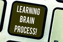 Escrita conceptual da mão que mostra aprendendo Brain Process Aquisição do texto da foto do negócio nova ou alteração existente fotografia de stock