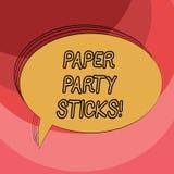 Escrita conceptual da mão que mostra as varas de papel do partido Foto do negócio que apresenta as formas coloridas do papel duro ilustração do vetor