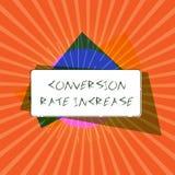 Escrita conceptual da mão que mostra a conversão Rate Increase A relação apresentando da foto do negócio dos visitantes totais qu ilustração royalty free