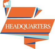 Escrita conceptual da mão que mostra matrizes Foto do negócio que apresenta os locais de escritórios principais ocupados por um m ilustração stock