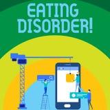 Escrita conceptual da mão que mostra o distúrbio alimentar Texto da foto do negócio caracterizado comer anormal ou perturbado ilustração do vetor
