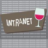 Escrita conceptual da mão que mostra o intranet Foto do negócio que apresenta a rede de comunicações local ou restrita especialme ilustração stock