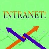 Escrita conceptual da mão que mostra o intranet A rede privada do texto da foto do negócio de uma empresa ligou da área local ilustração do vetor