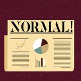 Escrita conceptual da mão que mostra o Normal Texto da foto do negócio que conforma-se a um colorido típico ou previsto usual pad ilustração stock