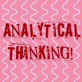 Escrita conceptual da mão que mostra o pensamento analítico Foto do negócio que apresenta para dividir problemas complexos em sim ilustração do vetor