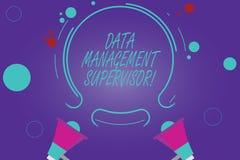 Escrita conceptual da mão que mostra o supervisor da gestão de dados Foto do negócio que apresenta assegurando o eficiente e efic ilustração do vetor