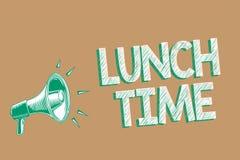Escrita conceptual da mão que mostra o tempo do almoço Refeição apresentando da foto do negócio no meio do dia após o café da man ilustração royalty free