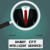 Escrita conceptual da mão que mostra a Smart City o serviço inteligente O texto da foto do negócio conectou moderno tecnologico ilustração stock