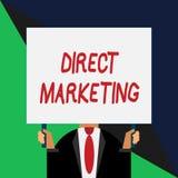 Escrita conceptual da m?o que mostra o marketing direto Neg?cio apresentando da foto do neg?cio de vender produtos ou servi?os a ilustração stock