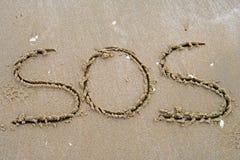 Escrita da areia Imagem de Stock Royalty Free
