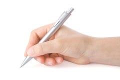 Escrita da mão com uma pena Imagem de Stock Royalty Free