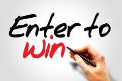 A escrita da mão entra para ganhar, conceito do negócio Imagens de Stock Royalty Free