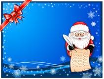 Escrita de Papai Noel no rolo Imagem de Stock Royalty Free