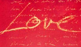 Escrita do amor Imagens de Stock