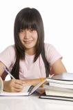 Escrita do estudante Fotos de Stock Royalty Free