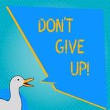 A escrita Don T do texto da escrita dá acima O significado Keep do conceito que tenta até que você suceda segue seus objetivos do ilustração stock