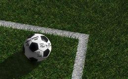 Escrita em um soccerball para seu pai Ilustração do Vetor