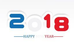 escrita simples do ano 2018 novo feliz com proteção Foto de Stock Royalty Free