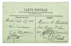 A escrita unreadible do cartão do vintage usou o fundo do papel fotografia de stock