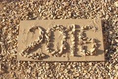 2016 escrito con las piedras Fotografía de archivo libre de regalías