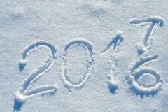 2017 escrito en el rastro 03 de la nieve Imagen de archivo libre de regalías
