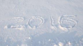 Escrito en la nieve de 2016 Foto de archivo libre de regalías