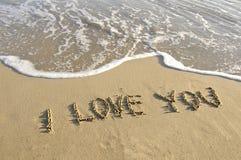 Escrito na areia. Fotografia de Stock Royalty Free