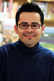 Escritor colombiano/americano James Canon Fotografia de Stock
