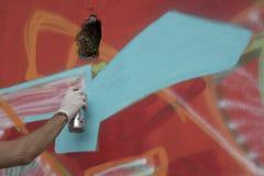 Escritor de la calle en Baronissi Herramientas del color Foto de archivo libre de regalías