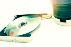 Escritor externo del DVD foto de archivo libre de regalías