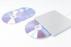 Escritor externo del DVD Fotos de archivo