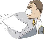Escritor Faces Empty Page stock de ilustración