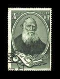 Escritor famoso Leo Tolstoy do russo, cerca de 1978, Fotos de Stock
