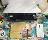 escritorio foto de archivo libre de regalías