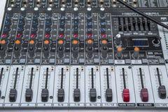 Escritorio audio del mezclador Imagenes de archivo