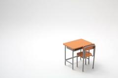 Escritorio de aprendizaje miniatura Imágenes de archivo libres de regalías