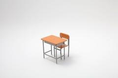 Escritorio de aprendizaje miniatura Fotografía de archivo libre de regalías