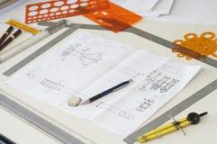 Escritorio de las hojas de operación (planning) Imágenes de archivo libres de regalías